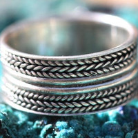 Boho Ring Stacking Sterling Silver
