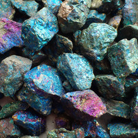 ONE Peacock Ore or Bornite stone from Mexico - appx. 15-30gm each / 25-40mm