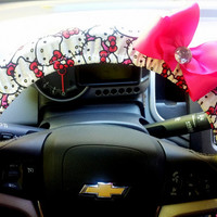Hello Kitty Steering Wheel Cover with Bow