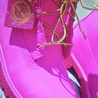 Custom Pink Timberlands