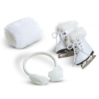 American Girl Molly's Ice Skates & Muffs for Doll