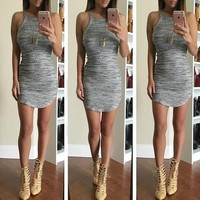 Threaded Sling Tight Dress