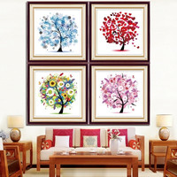 5D Living Bed Room Home Decoration Diamond Rhinestone Tree Plant Cross Stitch Kit Knit Set AP = 1958393220