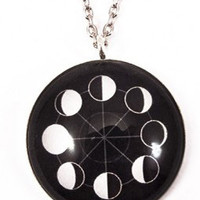 Now or Never Phases of the Moon Necklace