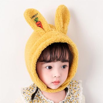 Girls' Hats, Autumn And Winter, Cute Ear Caps, Young Children, Men, Western Style, Winter, Winter, Thickened, Baby Girls, Plush Caps