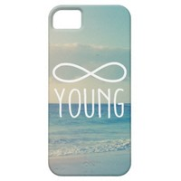 Cool Vintage Sea Sky Photo Infinity Forever Young iPhone 5 Cover