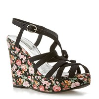 Lovely People Marianne Floral Wedge Sandal