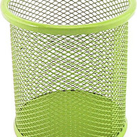 VIP Home Essentials Compact Room Saving Mesh Office & Home Desk or Counter Pencil Cup, Lime Green