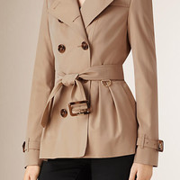 Cotton Gabardine Trench Jacket