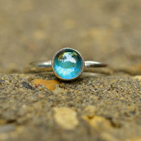 Sale  20 off  Rainbow Topaz Ring in Sterling by AbishEssentials
