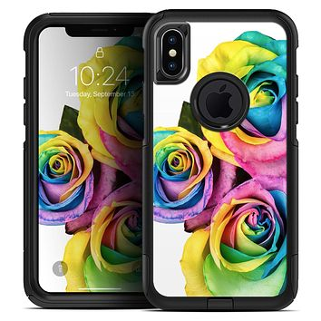 Rainbow Dyed Roses - Skin Kit for the iPhone OtterBox Cases