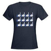 Offensive Facebook Button Shirt T-Shirt> Get your Facebook LIke on> La La Land Shirts