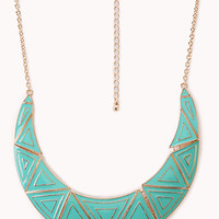 FOREVER 21 Standout Lacquered Geo Bib Necklace