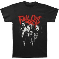 Fall Out Boy Men's  Punk Scratch Photo Slim Fit T-shirt Black