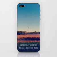 And In That Moment, We Left With The Wind. iPhone & iPod Skin by Josrick | Society6