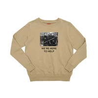 We're Here To Help Crewneck - Camel