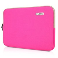 PLEMO Canvas Fabric 13-13.3 Inch Laptop / Notebook Computer / MacBook / MacBook Pro / MacBook Air Sleeve Case Bag Cover, Pink