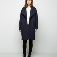 Crushed Wool Cocoon Coat by Carven