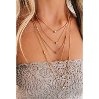 Double Standards Layered Necklace (Gold)