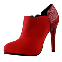 Hot Red, Pink, Almond, Black Bootie Shoes