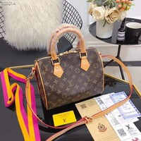 LOUIS VUITTON Mini Speedy With Strap