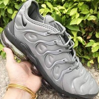NIKE Air VaporMax Plus TN Fashion New Men Air Cushion Leisure Sports Shoes Gray