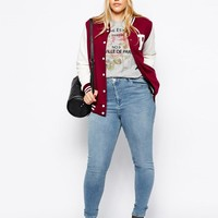 ASOS Curve | ASOS CURVE Exclusive Ridley Skinny Jeans In Brooklyn Light Wash Blue at ASOS