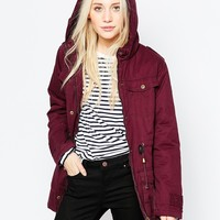 Brave Soul Parka With Drawstring Waist at asos.com
