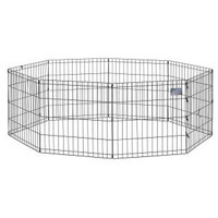 Midwest Black Exercise Pen Without Door - 24