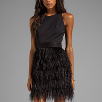 Milly Cocktail Feather Dress in Black from REVOLVEclothing.com