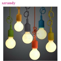 Hot Silicone E27 Home Ceiling Pendant Lamp Light Bulb Holder Hanging Fixture #S018Y# High Quality