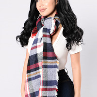 Brings Back Memories Blanket Scarf - White