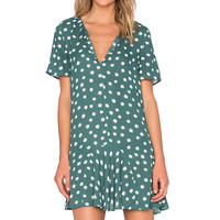 1. STATE Short Sleeve Dress in Thyme
