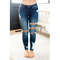 KanCan Sharon Distressed Skinnies