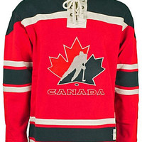 Old Time Hockey Canada Winter Olympics Vintage Lace-Up Pullover Hoodie - Shop.Canada.NHL.com