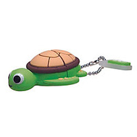 Emtec Animal Design USB 2.0 Flash Drive 4GB Turtle by Office Depot & OfficeMax