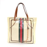 Authentic GUCCI Coated canvas Handbag Tote Tote Bag 295252