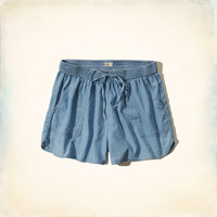 Chambray Drapey Shorts
