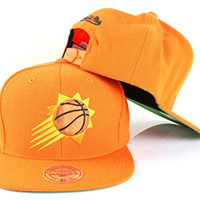 Phoenix Suns NBA Mitchell & Ness Team Logo Solid Wool Adjustable Snapback Hat