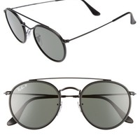 Ray-Ban 51mm Polarized Round Sunglasses   Nordstrom