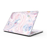 Marbleized Pink and Blue Swirl V2123 - MacBook Pro with Retina Display Full-Coverage Skin Kit