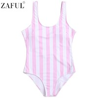 ZAFUL New Arrivals Sexy Women Beachwear One Piece Swimwear Shaping Striped Swimsuit Monokini Bathing Suit Bodysuit