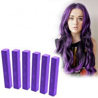 IMPERIAL PURPLE - 6 Bright Purple Ombre Hair Chalks