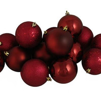 "60 Christmas Ball Ornaments - 2.5 ""  - Burgundy"