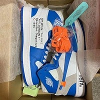 OFF-WHITE x Air Jordan 1 AF1 High-Top Sneakers Basketball Shoes