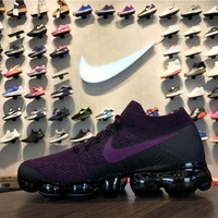 Nike Air VaporMax Flyknit Berry Purple 849557-605 Sport Running Shoes - Best Online Sale