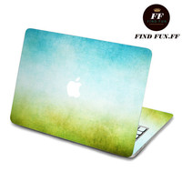Back cover of decal Macbook Air Sticker Macbook Air Decal Macbook Pro Decal 蓝绿-061