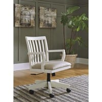 H583-01A Sarvanny Home Office Desk Chair (1/CN) - Cream - Free Shipping!