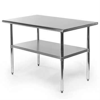 Heavy Duty Stainless Steel 48 x 30 inch Kitchen Restaurant Prep Work Table