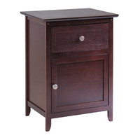 Winsome Wood Night Stand/ Accent Table w/ Drawer & Cabinet for Storage - Knob Handle
